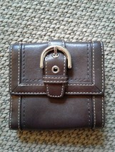 Coach - beautiful brown Leather bifold wallet in excellent condition - $24.75
