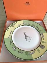Hermes Porcelain Africa Green Dinner Plate Dish Tableware Ornament Auth ... - $270.80