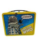 BBC DOCTOR WHO Tardis Dalek 3-D Embossed Metal Retro Lunch Box No Thermos - $19.79