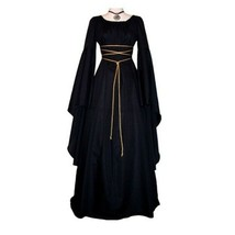 Women's Europe Vintage Dress Witch Show Costume Maxi Dress - $23.48+