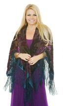Peacock Colors DeLuxe Vintage Velvet&Silk Boho Fringed Wrap Kimono - $149.99