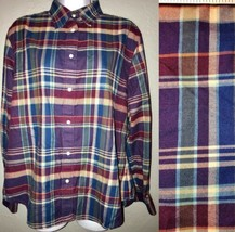 LRL Lauren Ralph Lauren Purple Plaid Button Down Shirt Women's Size L La... - $15.39