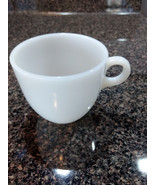 Fire King White Milk Glass Cup C Handle Vintage Diner Mug Anchor Hocking - $8.00