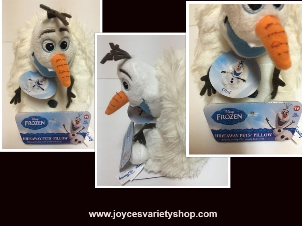 Olaf plush hide away web collage