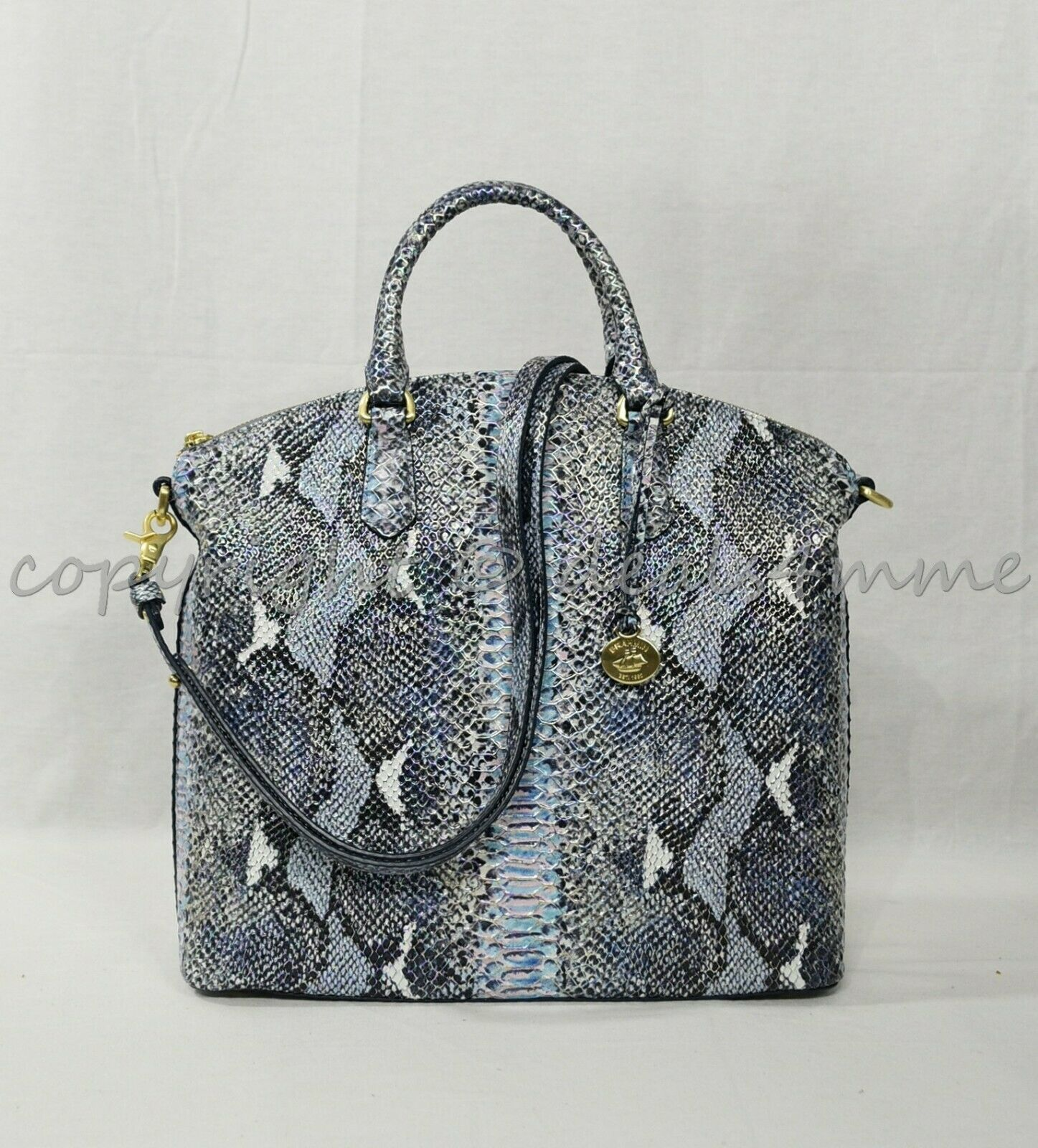 Primary image for NWT Brahmin Large Duxbury Satchel/Shoulder Bag in Marine Seville