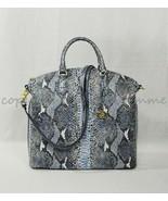 NWT Brahmin Large Duxbury Satchel/Shoulder Bag in Marine Seville - $319.00