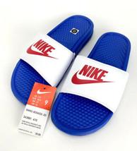 Nike Benassi JDI Game Royal/Red Women's Slides Sandals - Size 9 - $24.75