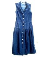 Sz 10 - Dressbarn Blue Jean Denim 100% Cotton Sleeveless Dress Size 10 - $28.49