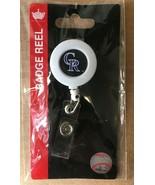 """Colorado Rockies BADGE HOLDER / REEL NEW Wincraft 30"""" Retractable Cord DM1 - $3.99"""