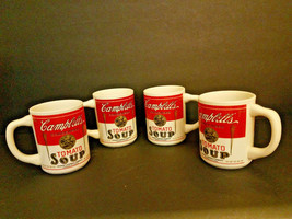 Vintage Lot Of 4 125th  Anniversary Campbell's Tomato Soup  Mugs Torch USA - $15.80