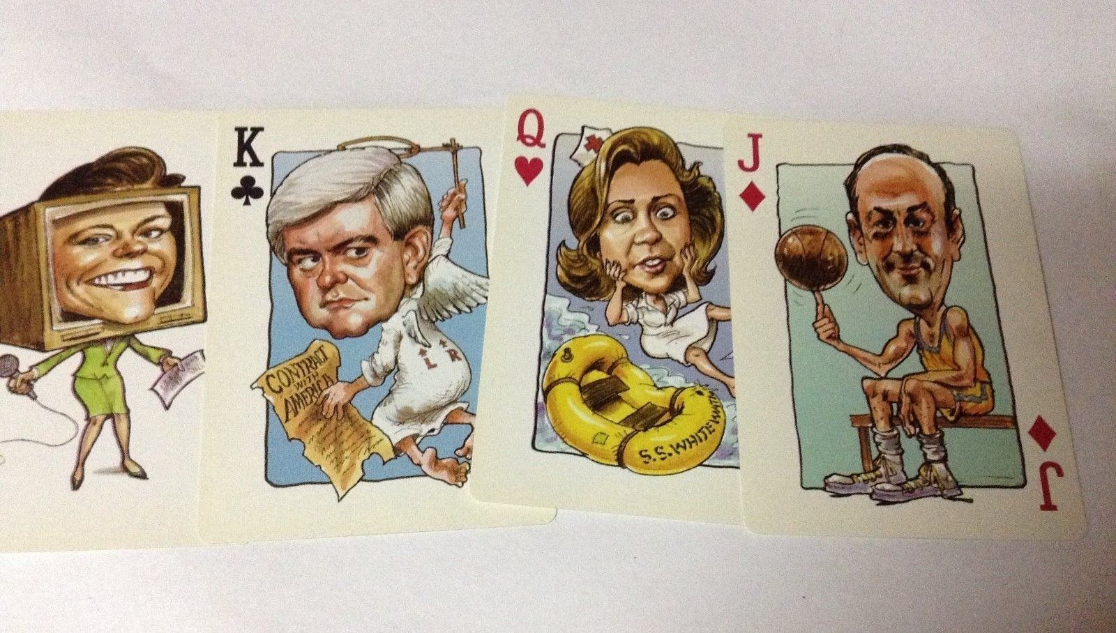 1996 Politicards 54 Famous Faces Politicians Casino Quality Playing Cards