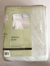 """Vintage NEW NOS Polyester Blanket Twin/Full 72"""" x 90"""" Made in USA Grey - $33.42"""
