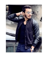 Stylish Stand Collar Slimming Color Splicing Polyester Jacket For Men  - $22.68