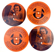 """4 Packard Bell Phonocord Girl Rare Phonograph Picture Record 5"""" Advertis... - $14.99"""