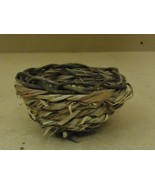 Handcrafted Bowl 4in Diameter x 2in H Woodtone Round Twigs Grass - $6.96