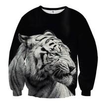 Tiger Head Portrait Black White Edition Simple Sweatshirt - $36.58