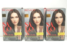 3 Revlon Salon Color #4 DARK BROWN Shade Lasting Hair Colorant Booster K... - $28.70
