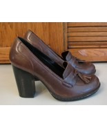 Born SHOES  6 M Concept b.o.c. Brown Leather SHOES Woman's Heels  Excell... - $19.79