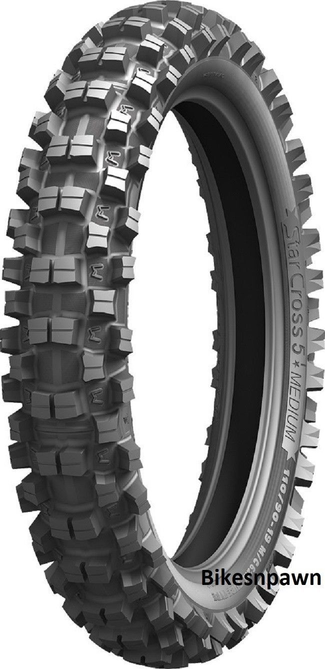 New 110/100-18 Michelin StarCross 5 Medium Rear Motorcycle Dirt Bike Tire 64M