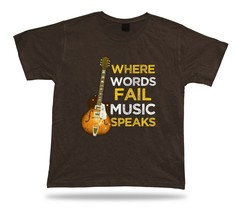 Where words Fail music speaks classic unisex apparel tee T shirt spiritu... - $7.57