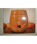 Ceramic Electric Jack 'O Lantern Pumpkin Wax Warmer Full Size NIB - $9.95