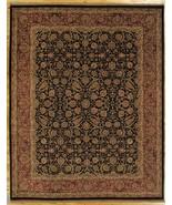 Midnight Blue Fine Quality Wool Handmade 8' x 10' Black Jaipur Area Rug - $1,104.34