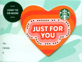 Starbucks 2020 Just For You Heart Recyclable Gift Card New No Value - $1.99
