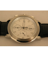 Seiko mens watches chronograph alarm date black strap white dial  SNAB81P1 - $195.03