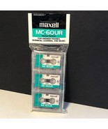 MAXELL MC-6OUR 6 HOUR ANSWER PHONES BLANK TAPES PACK 3 NEW MUSIC MICROCA... - $14.85