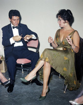Elizabeth Taylor 8x10 Photo seated having cigarette with Eddie Fisher - $7.99
