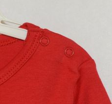 Blanks Boutique Long Sleeve Red Snap Up Ruffled Romper 18 Months image 3