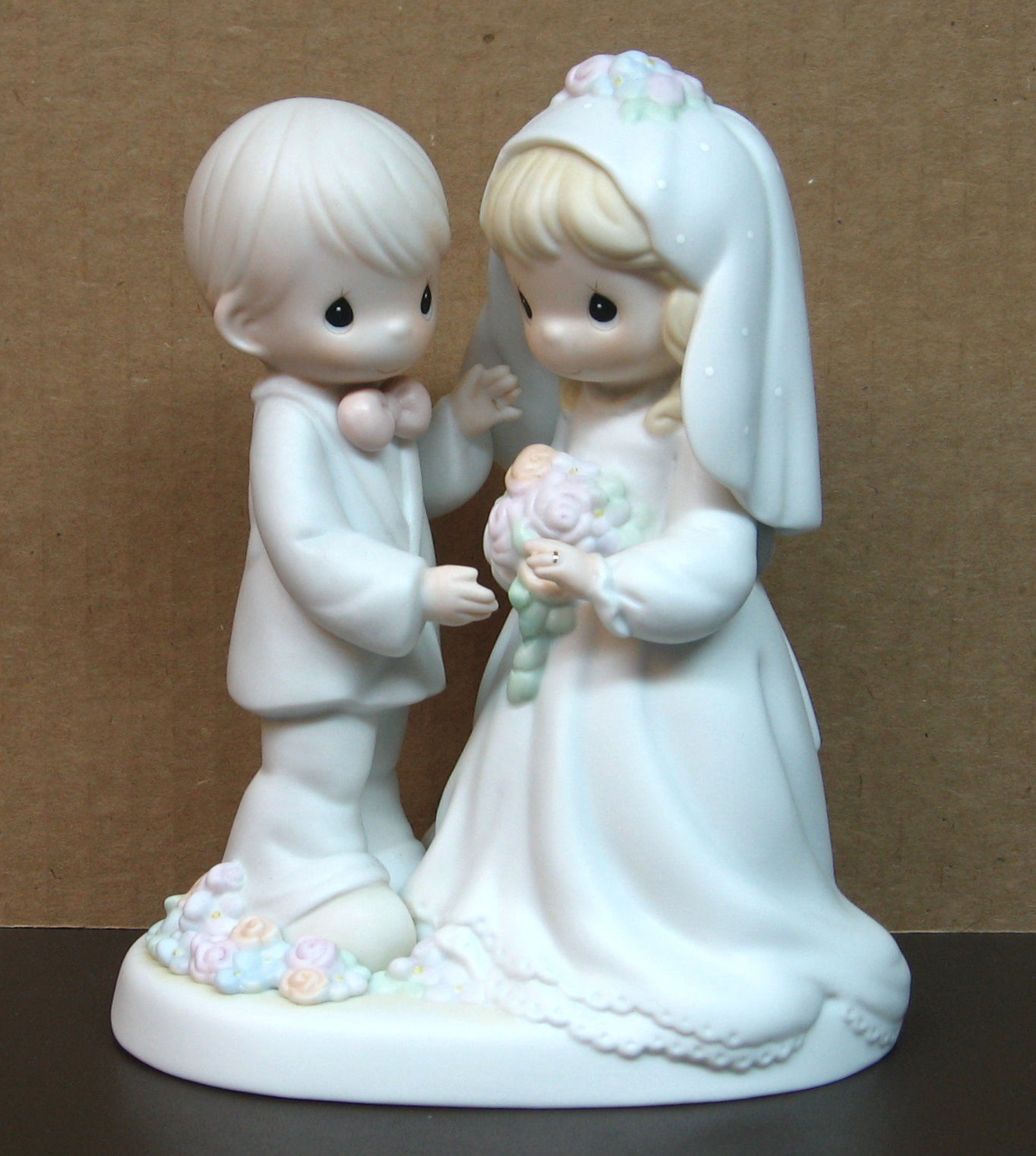 Precious Moments BRIDE GROOM ~ I Give You My Love Forever True # 129100 Wedding
