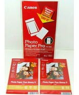 2 Sample Packs of  #PP-201 Canon Photo Paper Plus Glossy II 4x10 + PC101... - $4.95