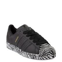 Nuevo adidas Superstar Zapatos Negros Cebra Mujer Classics Originals - $100.86