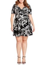 H. Grey Fit and Flare Midi Dress Plus Size ! Only $69.00 ! - $69.00