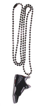 Good Wood NYC Black Cement 3 Wooden Sneaker Necklace black/Grey Shoes III Kicks image 2