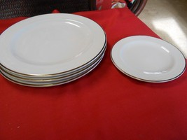 "Magnificent HOMER LAUGHLIN ""Lyrica"" 3 Dinner Plates & FREE Dessert Plate - $12.19"