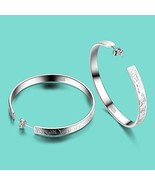 Women's 925 sterling silver earrings bohemia the letter design Solid sil... - $21.30