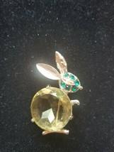 VERY RARE Vintage Signed Jasper Bunny Brooch/Pin - $79.20
