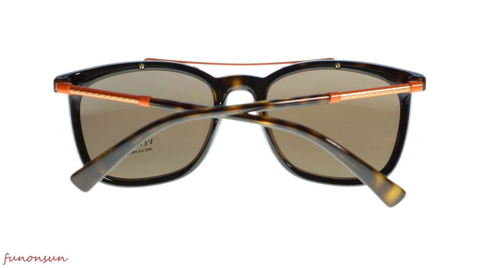 2ee7963ca04ba Versace Men s Square Sunglasses VE4335 10873 Havana Brown Lens 56mm