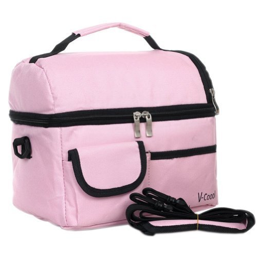 Infant Bottle Tote Bag Baby Keep Milk Fresh Bag Double-Deck Travel Package PINK