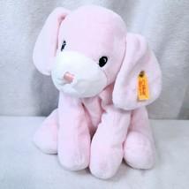 RARE Steiff Baby pink white Treff Puppy Dog Plush Soft Toy Stuffed Anima... - $134.88