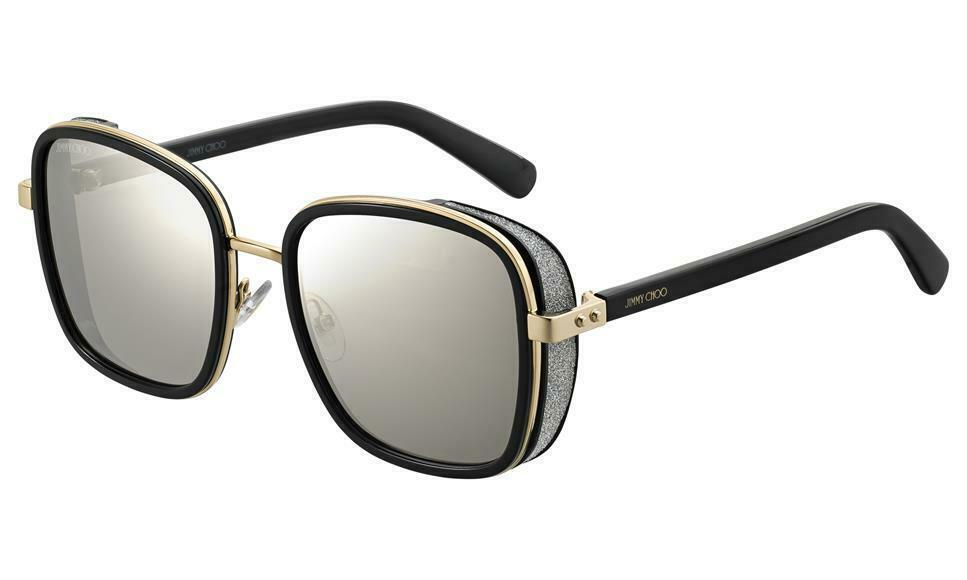 JIMMY CHOO ELVA/S Black Gold/Grey Mirror (2M2/T4 A) Women's Sunglasses
