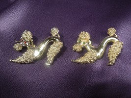 Set of Two 2 Estate Signed GERRY's Silver Tone Poodle Dog Brooch Pins - $31.19