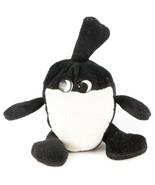 "Walking Bomb Plush VTG 8"" Eyes Black White Grenade Cartoon Stuffed Animal Toy - $19.66"