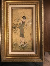 Mok Oriental Princess Oil Painting On Cork Framed - $99.00