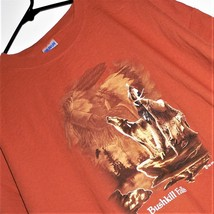 Bushkill Falls Pa - Men's T-SHIRT 2XL Russet Exc Cond! Native American / Wolf - $14.84