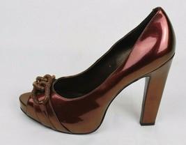 Jessica Simpson Daila Damen Schuhe Heels Pump Open Toe Braun Gold Größe ... - $20.77