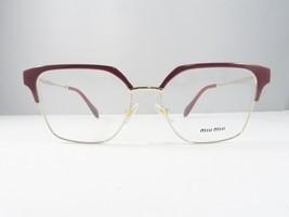 Miu Miu VMU 52O UE5-1O1 Shiny Burgundy/Gold New Authentic Eyeglasses 52m... - $85.06