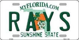 """MLB Tampa Bay Devil Rays License Plate Team State Background Metal Tag """"U.S.A.""""  - $9.85"""